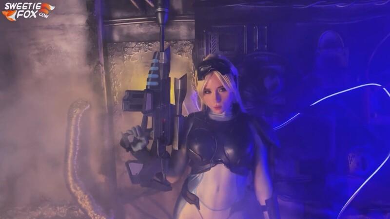 Sweetie Fox - Nova from Starcraft Sucks Cock [FullHD 1080P]