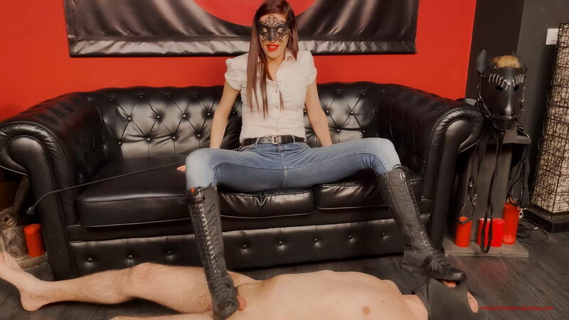 Mistress Victoria Colonna - Lick My Boots, My Socks, My Feet And Your Cum [FullHD 1080P]