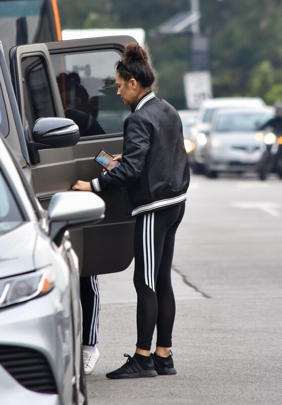 lovely babe Shay Mitchell in adidas yogapants