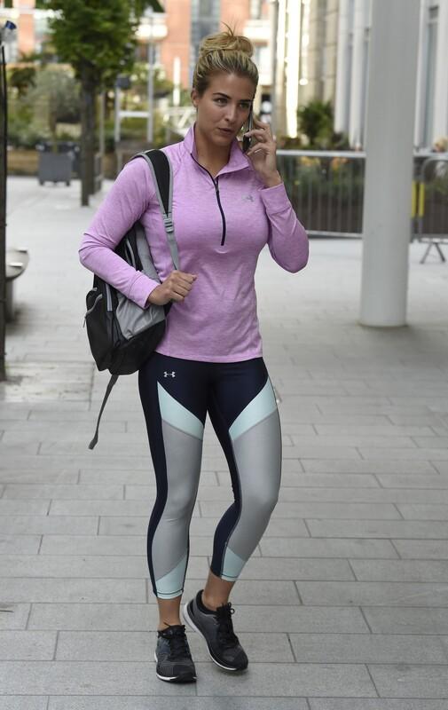 pretty milf Gemma Atkinson in sexy under armour yogapants