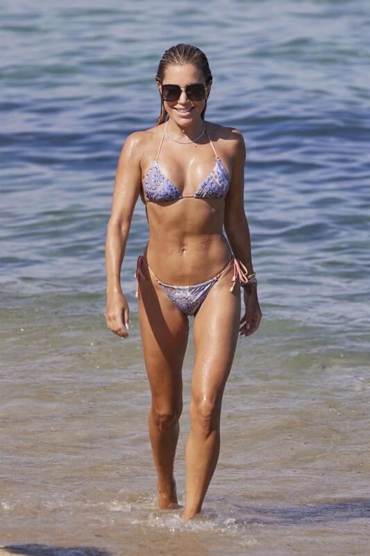 sexy babe Sylvie Meis in wet bikini