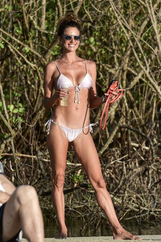hot milf Alessandra Ambrosio beach bikini photo album