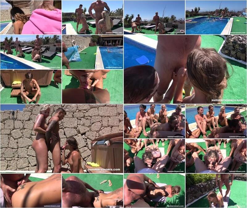 Jarushka Ross, Daisy Lee, Lady Bug, Katy Rose, Silvia Dellai, Tereza, Alice Nice - Groupsex games in the pool (1080p)
