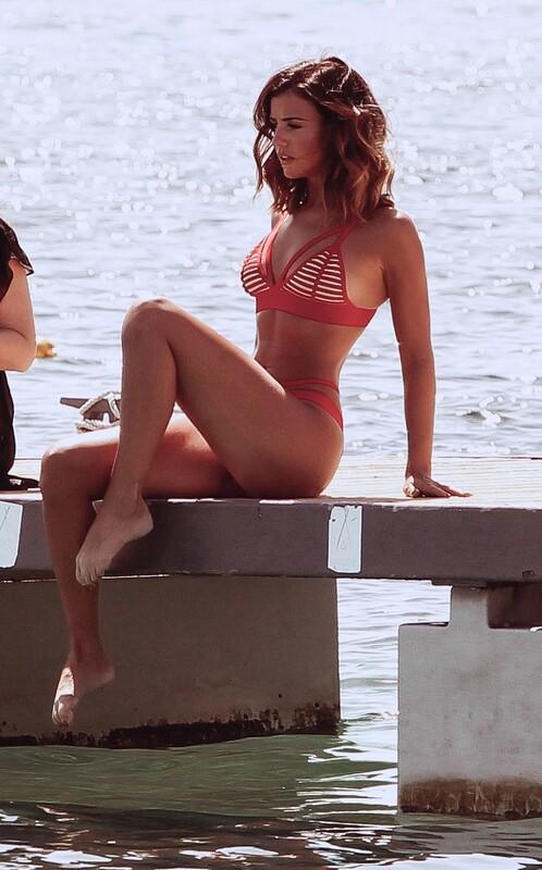 attractive milf Lucy Mecklenburgh in wet bikini