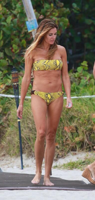 hot milf Kelly Bensimon in strapless bikini