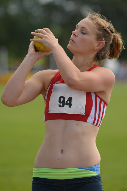athlete girl in candid clothes