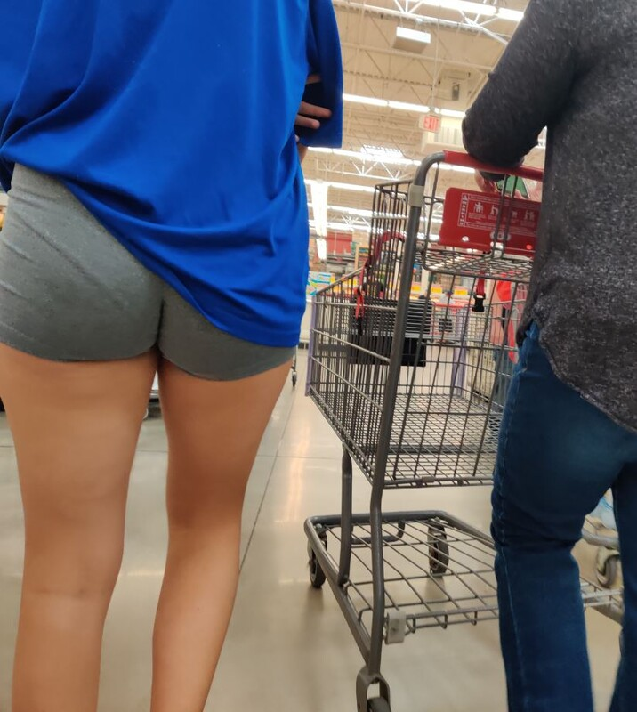 perfect booty in gym shorts
